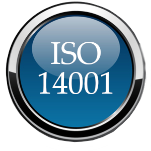 ISO 14001 glossy ball blue
