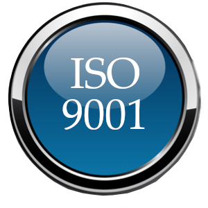 ISO 9001 glossy ball blue