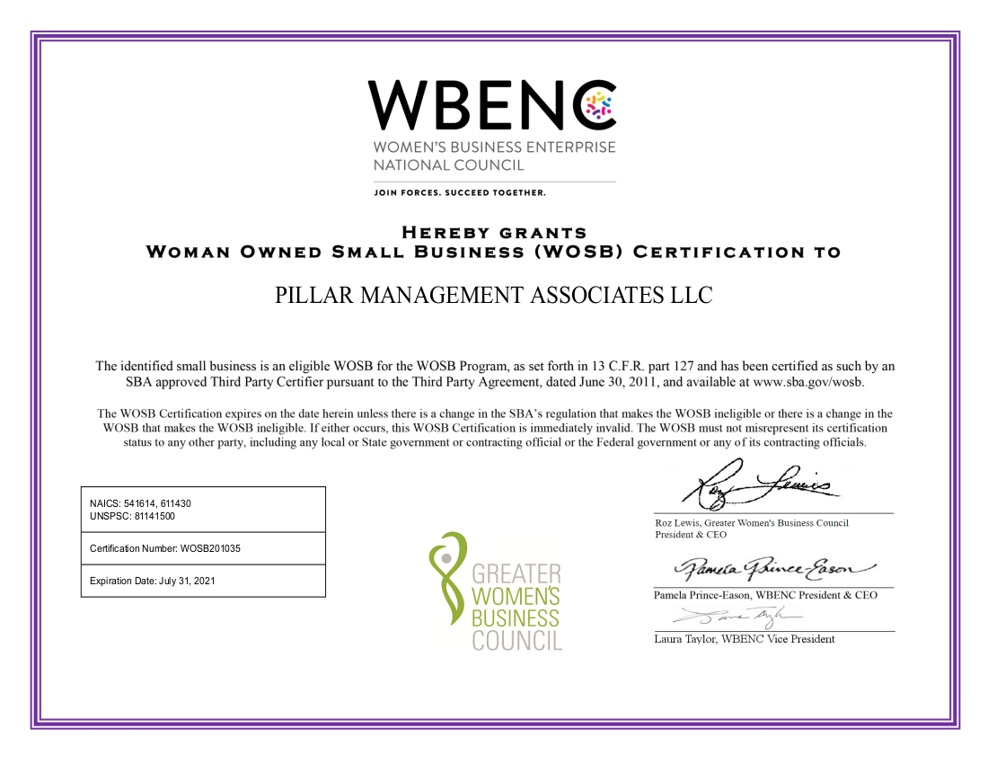 WBENC WOBS Certificate2