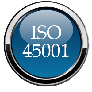 ISO 45001 glossy ball blue